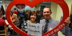 Jill Bennett and Chris Holmes from Community Partnerships at the University of Nottingham