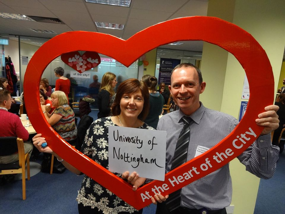 Jill Bennett and Chris Holmes from Community Partnerships at the University of Nottingham