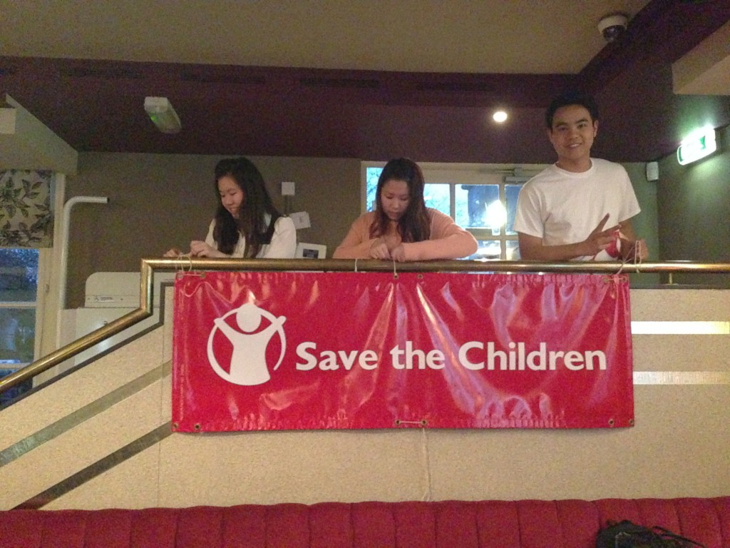 Save the Children - putting up decorations