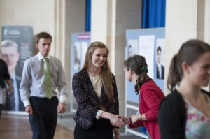 Congratulating students at last year's Celebration Event