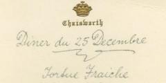 Chatsworth Christmas menu