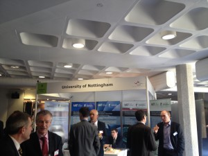 The University of Nottingham's Institute for Aerospace Technology exhibition stand