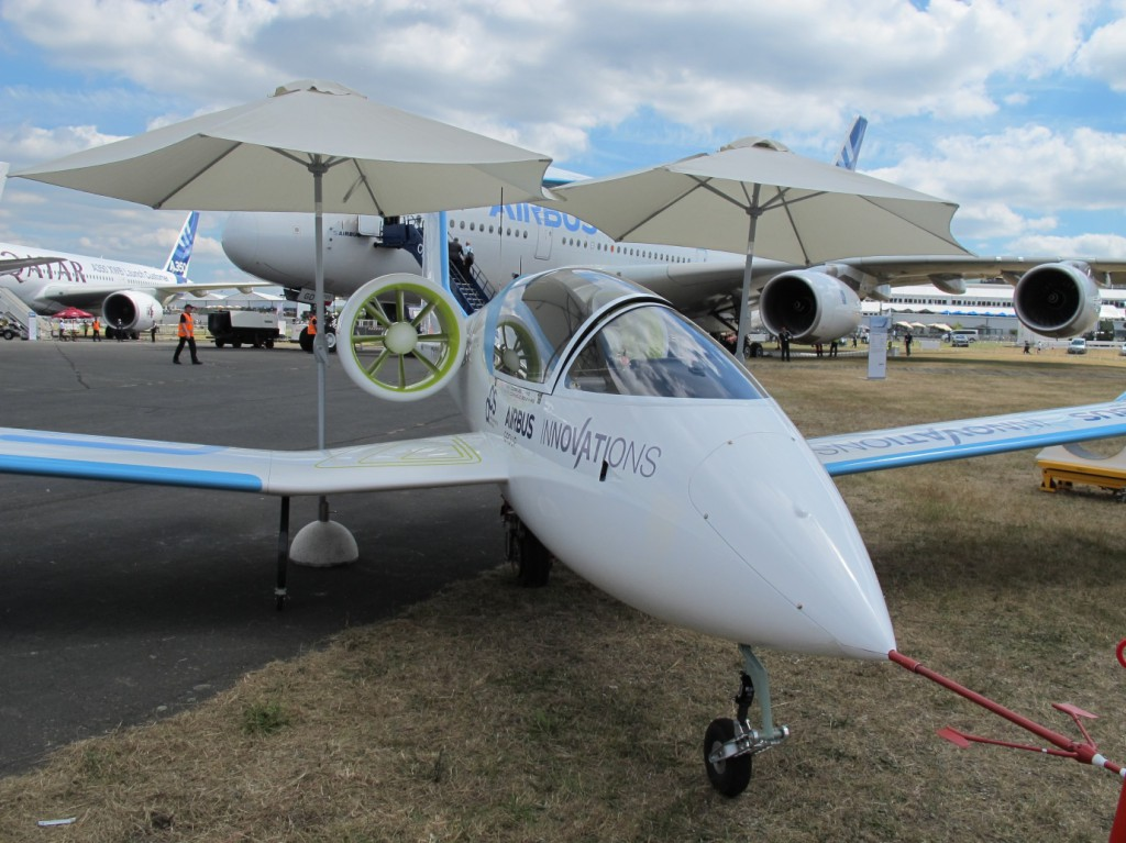 Airbus Innovation Group E-FAN Prototype on Display at Farnborough International Airshow, July 2014