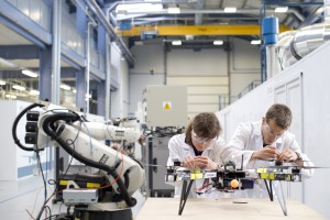 Students working in the ATC, the home of the Institute for Aerospace Technology