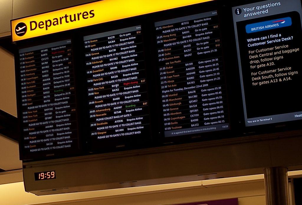 Departures Board LHR