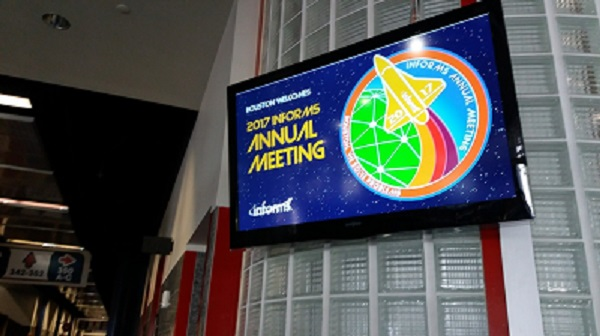 2017 Annual INFORMS Meeting Signage