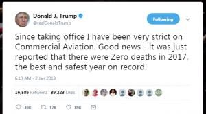 Screen Shot of Twitter Post