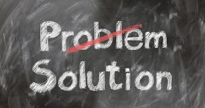Photo of the words problem/solution