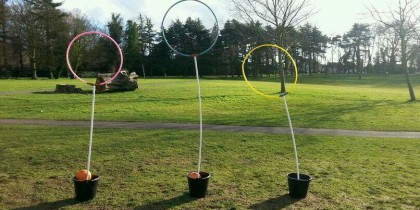 Quidditch society hoops on University Park