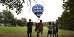 University hot air balloon