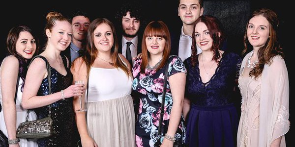 Amy and friends at the spring formal