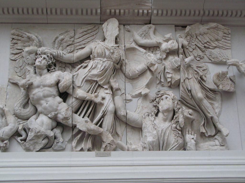 Fig. 1. Athena on the Pergamon Altar.