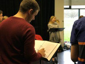 Lysistrata rehearsal: director Martin Berry