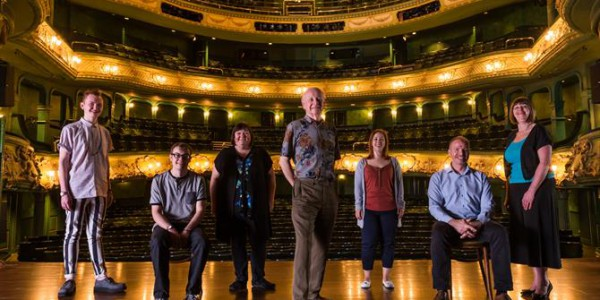 Daniel, Tom, Becky, Pat, Jen, James and Linda take the stage at the Theatre Royal