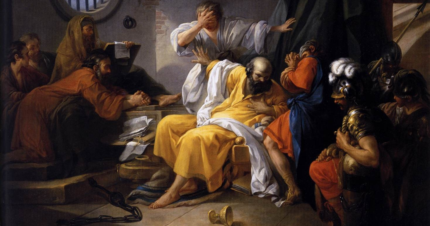 An analysis of the inspirational painting the death of socrates