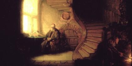 philosopher in meditation