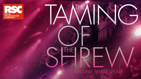 The Taming of the Shrew (words on purple background)