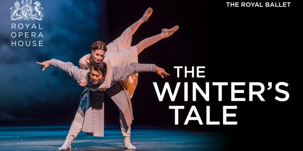 Two dancers next to the words The Winter's Tale