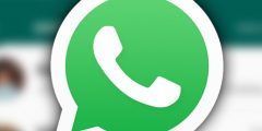 An icon of a phone in a Whatsapp symbol.