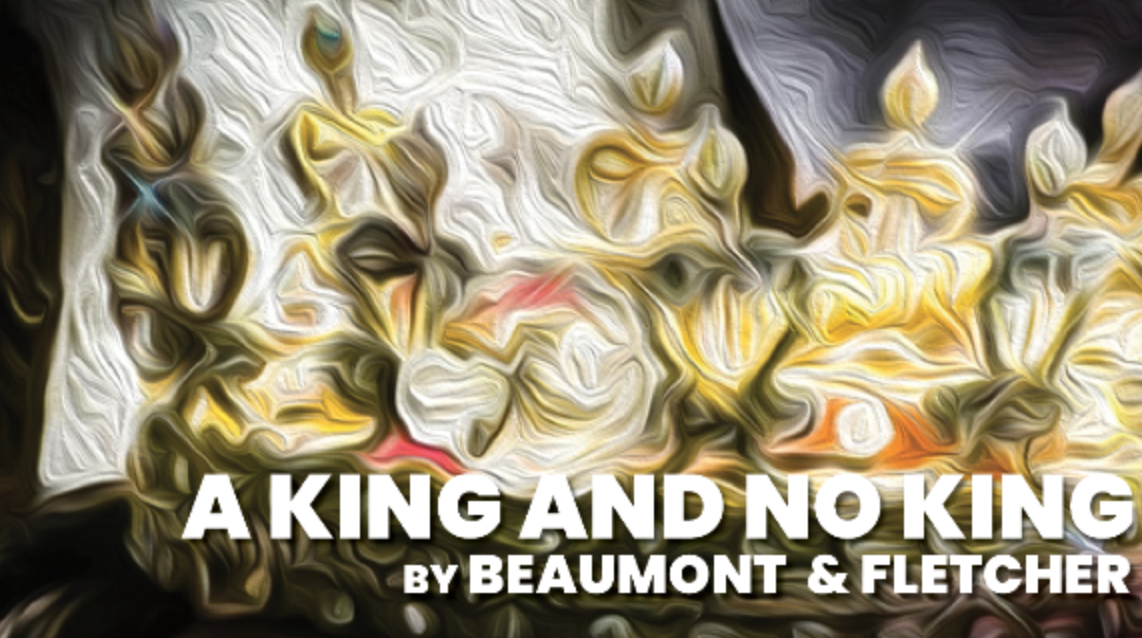 Poster for A King and No King, featuring a crown.