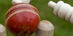 Image of Cricket Ball and Stumps