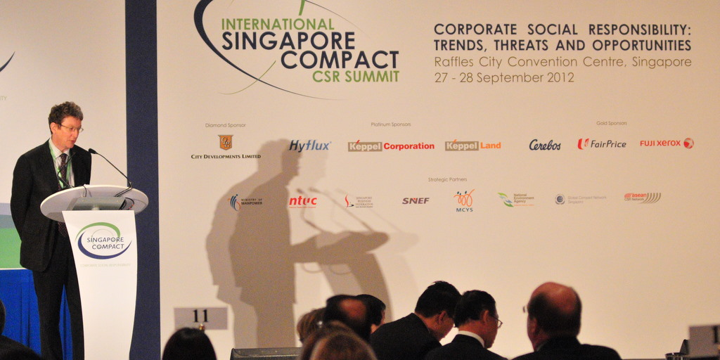 Jeremy speaking at Singapore Conference