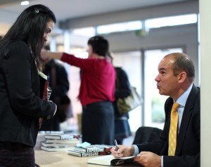 Michael Woodford signing books 12th March 2013, Nottingham