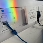 a prism derved rainbow cast on a network point