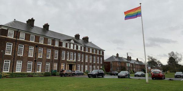 Rainbow Flag Flying