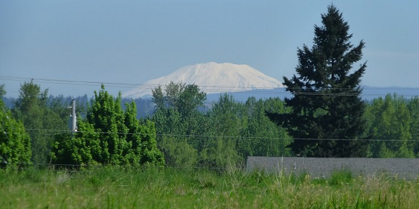 Photograph of Mount St. Helens, Washington State, USA.