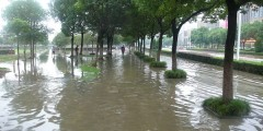 A photograph of Ningbo, China, flooded in October 2013 (photo from Faith Chan)