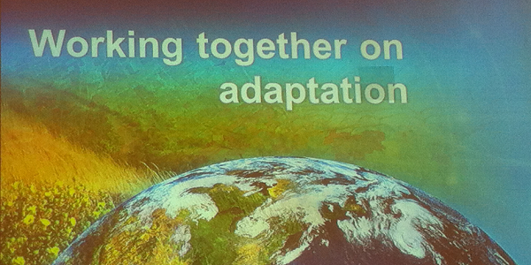 A photograph of the closing slide of keynote speech at the 2013 EEAC conference
