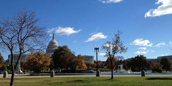 A photograph of Washington DC, November 2013