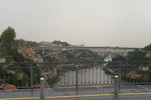 A photograph of the Douro River bridges.