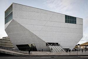 A photograph of the Casa da Musica, the Porto's iconic music house.