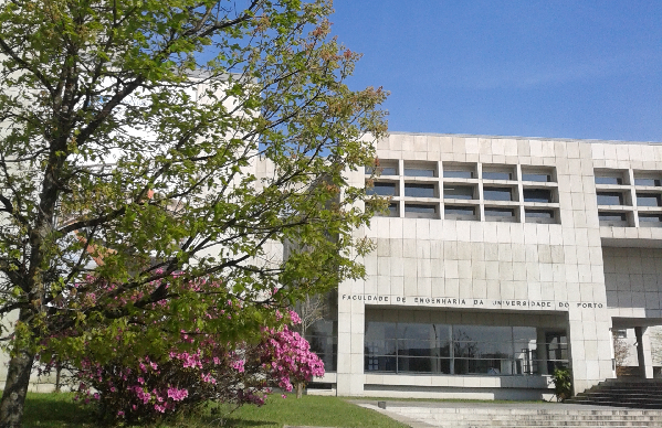 A photograph of the Faculty of Engineering of the University of Porto, Portugal.