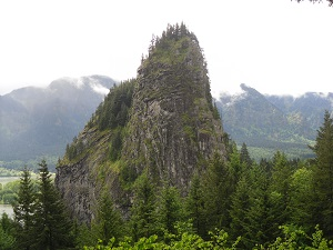 A photograph of Beacon Rock, Washington State Park