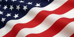 A photograph of the American flag