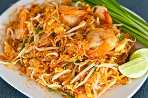 A photograph of some Thai noodles