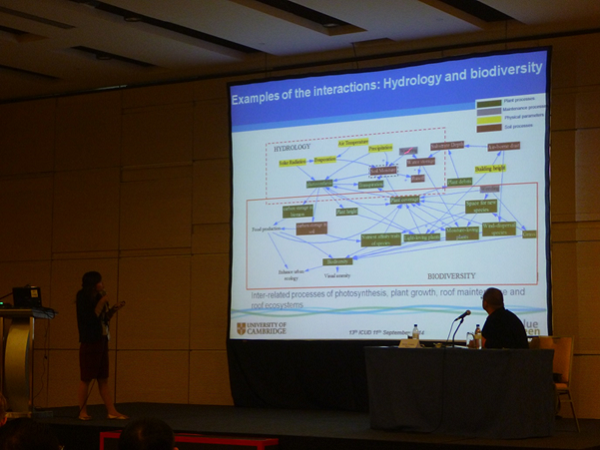 A photograph of Dr Lan Hoang presenting at the ICUD conference.