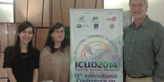 A photograph of Lan, Deonie and Dick at the ICUD 2014