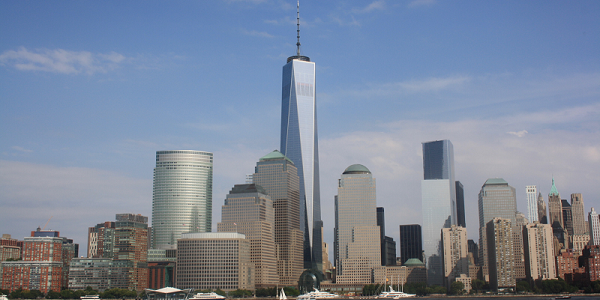 A photograph of the New York skyline