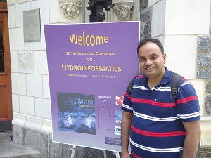 A photograph of Ahilan at the HIC 2014