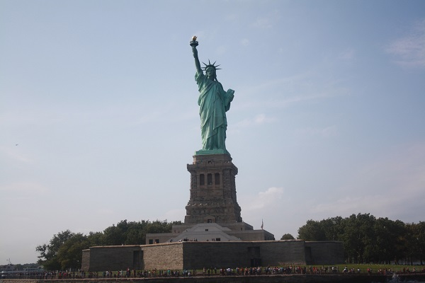 A photograph of the Statue of Liberty
