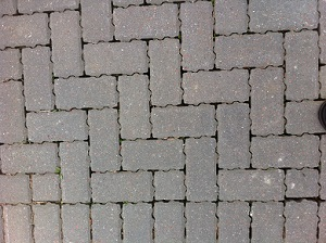 A photograph of permeable paving in a school car park in Edinburgh.