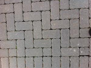A photograph of permeable paving in a school car park in Edinburgh.