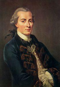 Portrait painting of philosopher Emmanuel Kant