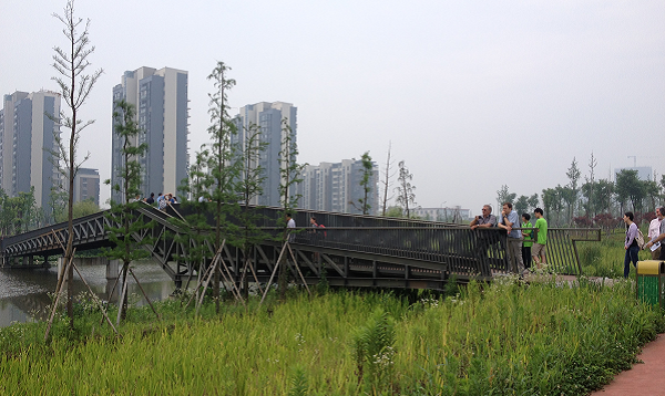 A photograph of Ningbo eco corridor