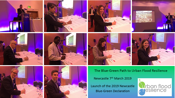 Signatories of the 2019 Newcastle Blue and Green Declaration