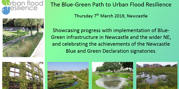 Details of the Newcastle 2019 dissemiantion event: The Blue-Green Path to Urban Flood Resilience
